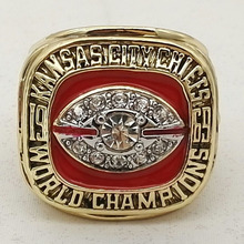 Wholesale 1969 Kansas City Chiefs Super Bowl Championship Ring 11 Size Fans Gift(China)