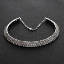 1Pcs New Hot Fashion lovely Women Full Crystal Choker Necklace for Women Wedding Christmas Party Jewelry(China)