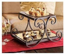 2 Tier Iron Cake Stand, 3 Color, Cake Holder, Food display/ Desserts stand/ Fruit Stand/ Cake display, food holder