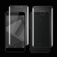 Buy High HD Soft TPU Silicone Anti-Scratch Bubble Design 2.5D Screen Protector Film Xiaomi Redmi 4X Optional Back Cover for $1.24 in AliExpress store