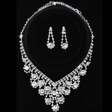 Great Quality Turkish Vintage Necklace Earring Sets Fine Women Wedding Jewellery Sets Brand Women Natural Rhinestone Jewelry