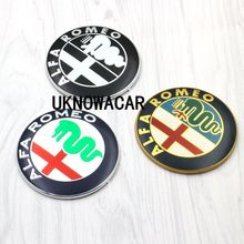 2pcs 74mm 7.4cm For ALFA ROMEO Car Logo emblem Badge sticker for ALFA ROMEO Mito 147 156 159 166 Giulietta Spider GT(China)