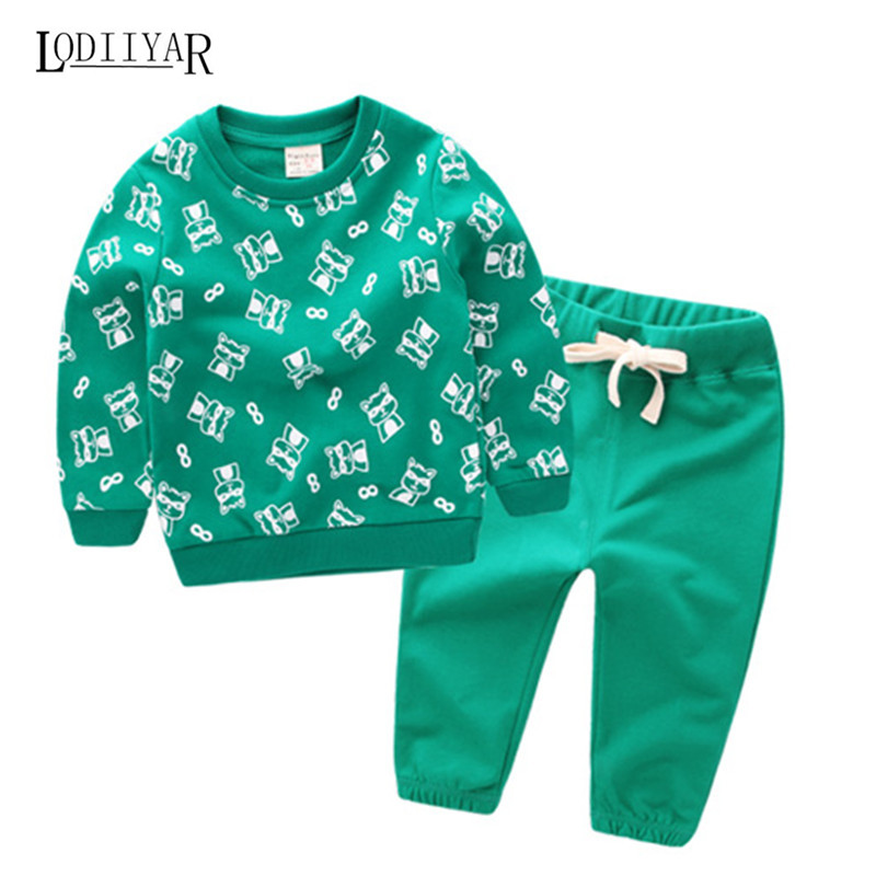 Cotton Pullover Hoodie Baby Boys Girls Clothes, Long Sleeve Top + Pant Childrens Sets, Casual Star Animal Outerwear Kid Clothes<br><br>Aliexpress