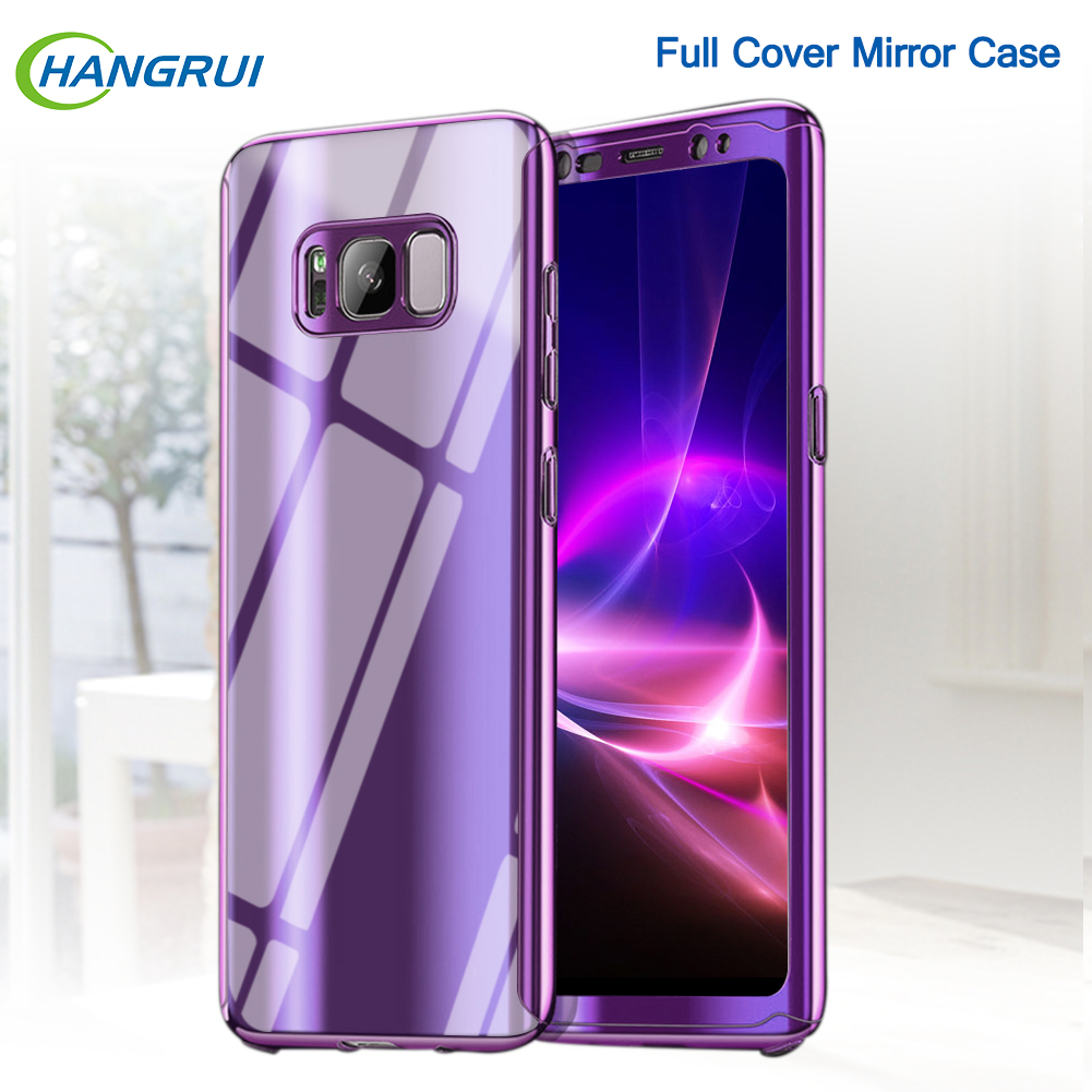 For Samsung Galaxy Note 8 9 Full Body Cover Plating Luxury Mirror Hard Case For Samsung Galaxy S8 S9 Plus S7 Edge Cases Fundas