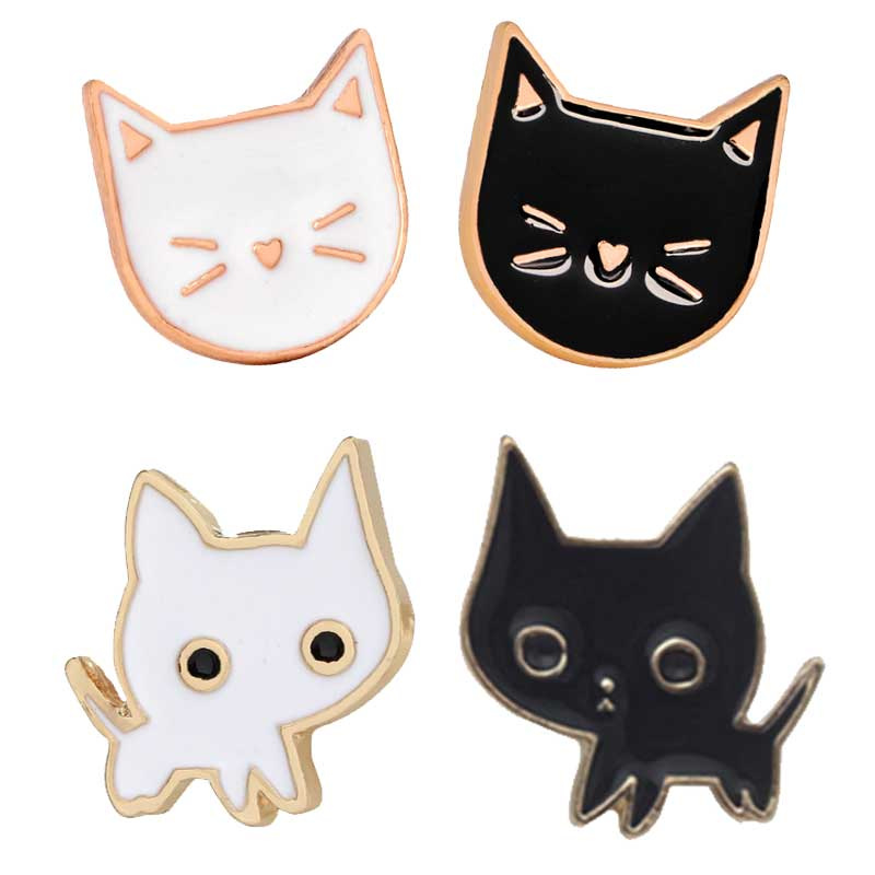 Animal Enamel cartoon Cat Ghost pins brooches badge pin Jewelry Accessory N WD