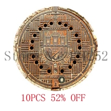 Manhole Cover Manhole Cover Art Pendant Necklace keyring bookmark cufflink earring