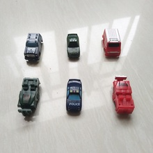 30Pcs/lot SQUINKIES Cartoon Cars Policy Car Fire Truck Toys Size 4cm Mixed In Random