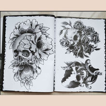 A4 76 Pages Tattoo Book Selected Skull Design Sketch Flash Book Tattoo Art Supplies