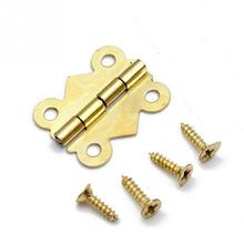 10pcs/lot Furniture Hardware 180 Degrees Mini Butterfly Door Hinges Bronze Cabinet Drawer Jewellery Box Decorate Hinge(China)
