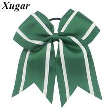 7 Large High Quality Ribbon Cheer Bow For Children Girls Sweet Lovely Cheerleading DIY Hair Headwear