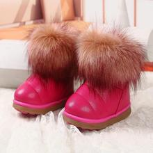 1 pair free shipping winter The New Children boots girls Soft bottom baby thick snow boots
