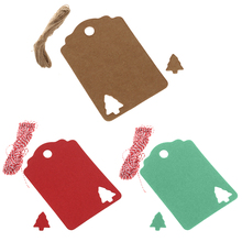 100pcs Decorative Kraft Tags Handmade Present Gift Labels Christmas Tree Blank Strung Hang Tag Christmas Supplies Accessories(China)