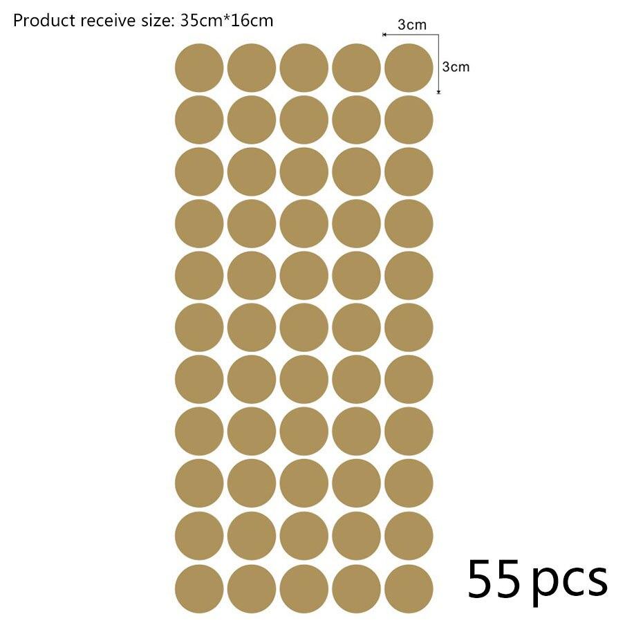 Gold Polka Dots Wall Sticker (9)