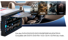 Durable in dash universal car media player dvd video mp3 mp4 mp5 usb aux in am fm bluetooth