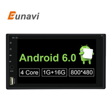 Quad Core 2 Din Pure Android 6.0 Car DVD Player Navigation Stereo Radio GPS WiFi 3G Touch Screen Back Camera Car PC 170*96