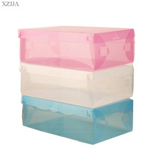 Special Offer Thick Transparent Colored Plastic Clamshell ShoeBox Drawer Storage Box Boots Organizer Container Finishing Box DIY