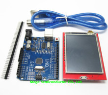 2.4 inch TFT LCD Touch Screen Display Module + Uno r3, CH340, Development Board Compatible + USB Cable(China)