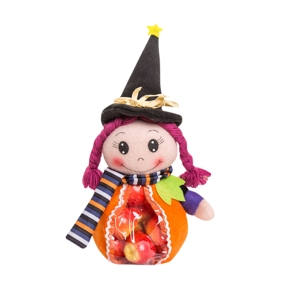 Halloween Cute Witches Candy Bag Packaging Storage Bag Children Gift Best candy jar holiday halloween Christmas Party festival(China (Mainland))