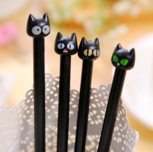 1pc Cute Black Cat Gel Pens Signature Pen Kawaii Korean Stationery Creative Gift School Office Writing Stationery Supplies