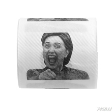 1Pc Hillary Clinton Toilet Paper Tissue Roll Funny Prank Joke Gift 2Ply 240Sheet G03 Drop ship(China)