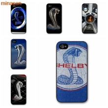 minason Hollywood Ford Mustang Shelby Cobra Logo Cover case for iphone 4 4s 5 5s 5c 6 6s 7 8 plus samsung galaxy S5 S6 Note F020(China)