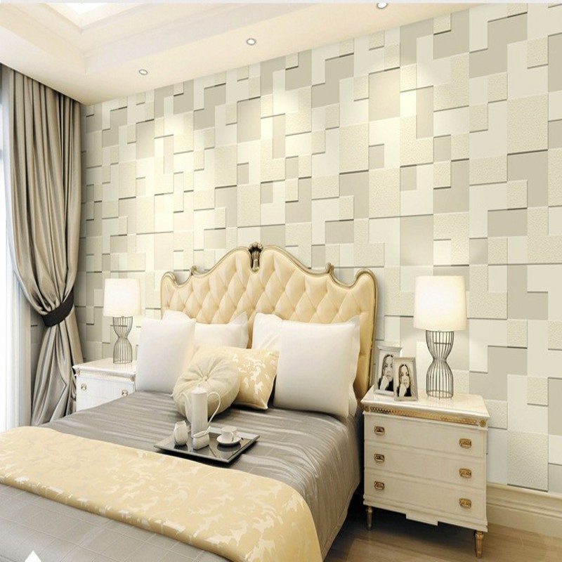 Free Shipping Custom 3D Stereo Relief Nonwovens Wallpaper Bedroom Living Room hotel TV Backdrop Mosaic Wallpaper<br>