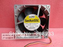 sanyo Sanyo the wind volume Inverter 24V 0.50A 12038 12CM machine  ++cooling fan