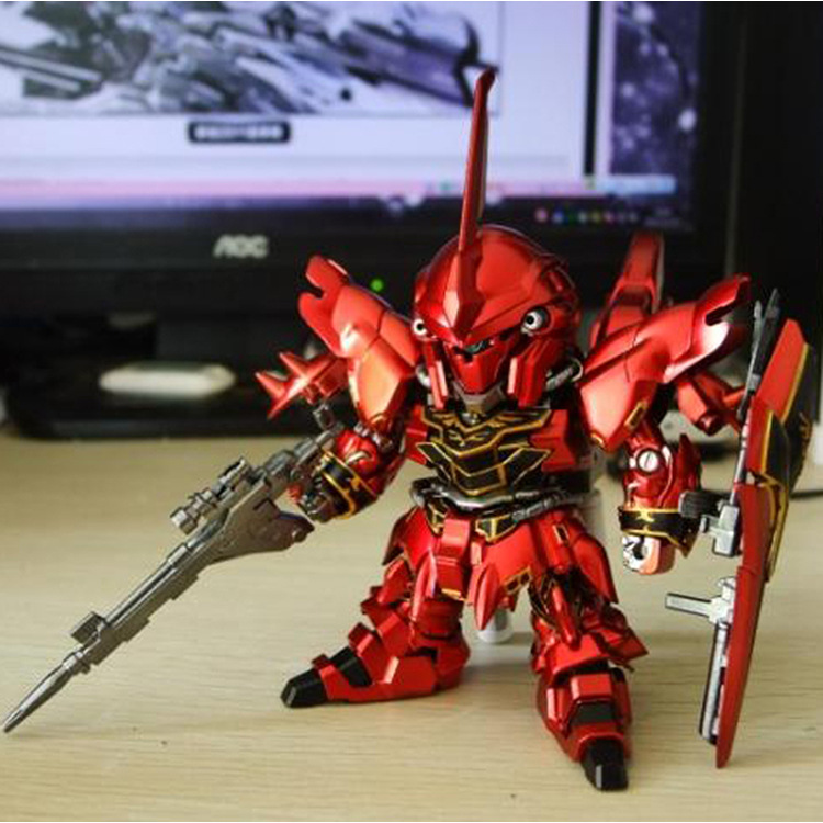 2016 Red Gundam Figures 9cm Robot Gundam Action Figures Anime Figures Kids Gifts Japanese Toys Brinquedos With Box<br><br>Aliexpress