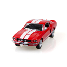 Mustang Shelby GT500 1967 Red 1/38 alloy model car Diecast Metal Pull Back Car Toy For Gift Collection