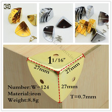 27*27*27mm Excellent quality 16pcs iron corner protector guard hinges for Jewelry boxes Gift box Wooden case Kitchen cabinets