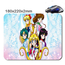 Custom Print Sailor moon Rubber Mouse Pad Computer Gaming For Optical Anti-slip Smooth Mice Mat 220mm*180mm*2mm Or 29MM*25MM*2Mm