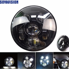 "For Harley Davidson Street 750 Led Headlight 5 3/4"" harley lamp led motorcycle headlight h4 led 5.75 inch harley sportster 883(China)"