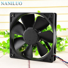 NANILUO Free Delivery. 12 cm 12025 double ball big air volume fan 12 v 0.68 A WFB1212HH speed