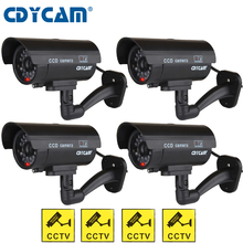 4pcs(1 bag) Fake dummy camera Waterproof CCTV Camera Outdoor Indoor Fake Dummy Camera Night Camera LED Light Video Surveillance(China)