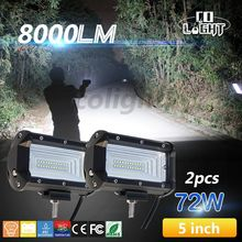 CO LIGHT 72w Offroad Led Driving Light Off Road LED Light Bar 72W 144W Spot Flood 6000k for KAMAZ GAZ UAZ 4x4 4wd Car Styling