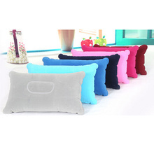 1XComfortable Double Sided +Inflatable Pillow Mat Cushion For Sleep Picnic Travel Colorful(China)
