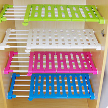 kitchen organizer wardrobe storage layered separator upgrade kitchen cabinets scalable partition shelves Shelves nail Free