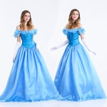 Custom Made New Design Adult Cinderella Princess Costumes Women Halloween Party Dress Cosplay Costumes