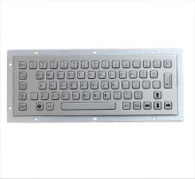 Custom 64 keys full braille key button layout metal stainless steel ADA standard keyboard for kiosk,self-service terminals(China)