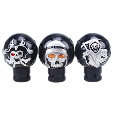 1 Pcs Cool Black Skull Resin Universal Car Truck Manual Stick Gear Shift Knob Lever Shifter Car Accessories Shifter Knobs