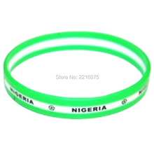 1000pcs printed LOGO Flag World Cup Nigeria wristband silicone bracelets free shipping by DHL express
