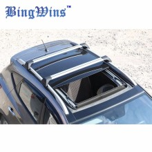 BingWins Car styling for Hyundai ix35 panoramic sunroof Edition wing aluminum roof rails roof rack rod mute(China)