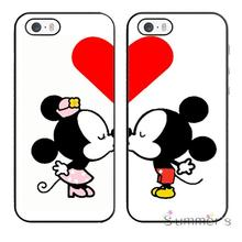 cellphone case cover for iphone 4 4s 5 5s 5c SE 6 6s 7 plus ipod touch 4/5/6 Mickey And MInnie Mouse Kiss Best Friends