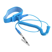 Blue Electricity Grounding Wired Wristband Anti Static ESD Discharge Wrist Strap Band with 180cm Length Cable(China)