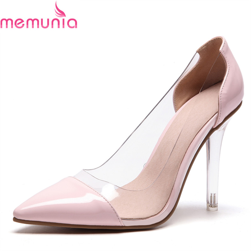 MEMUNIA woman pumps women shoes super high heels thin heels party spring summer sutumn shallow big size wedding shoes<br>