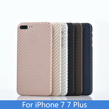 Imported woven carbon fiber material closely joint with PP back shell Mobile Phone Case For iPhone 6 6S 7 Plus Cover bag Coque