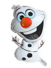 Snowman Balloons 56x37cm Sport Souvenirs friendly aluminum film Inflatable Cartoon Toys For Kids, Christmas New Year Party Decor(China)