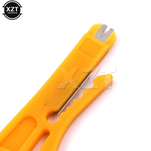 1pcs Mini Strippers Network Cable Plier UTP STP Cable Cutter Telephone Wire Stripper RJ45 tool Yellow(China)