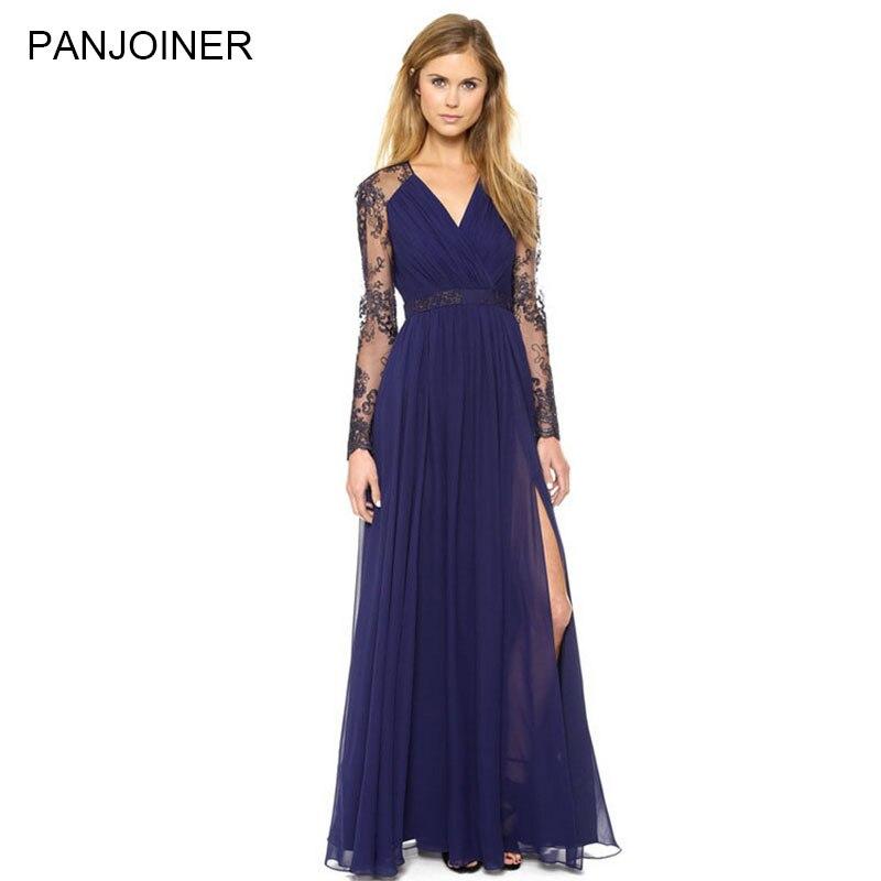Online Get Cheap Long Sleeve Navy Blue Maxi Dress -Aliexpress.com ...