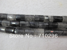 worth buying 3 strings/lot natural cloudy quartz crystal beads13x18mm faceted tubes natural stone beads(China)